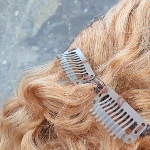 hairplusbase Other - 7 piece strawberry blonde natural hair extensions